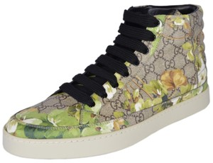 1399a23835d Gucci High Top Sneakers Ebony Beige Blooms Athletic
