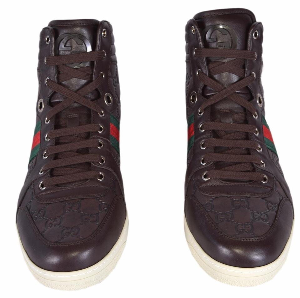 717316875d00 Gucci Brown New Men s Leather Red Green Web Gg Coda 7.5us Sneakers Size US  7.5 Regular (M
