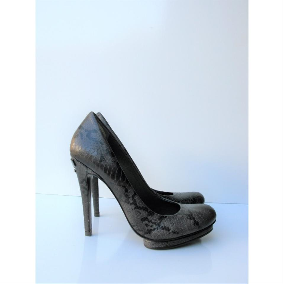 c6ba03a6d98b0 Tory Burch Brown Jude Amazon Snake Print Leather Stiletto Platform Pumps  Size US 9.5 Regular (M