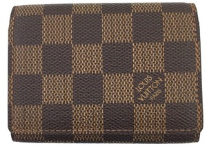 Louis Vuitton #15986 Damier Ebene Wallet flap business credit card case holder