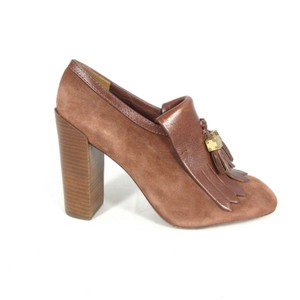 Tory Burch Tassle Suede Chunky brown Pumps