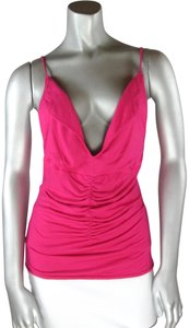 a8fb8082fac Louis Verdad Pink Jersey Hot Ruched Plunge Deep V-neck Sexy Draped Tank  Top/Cami Size 4 (S) 79% off retail