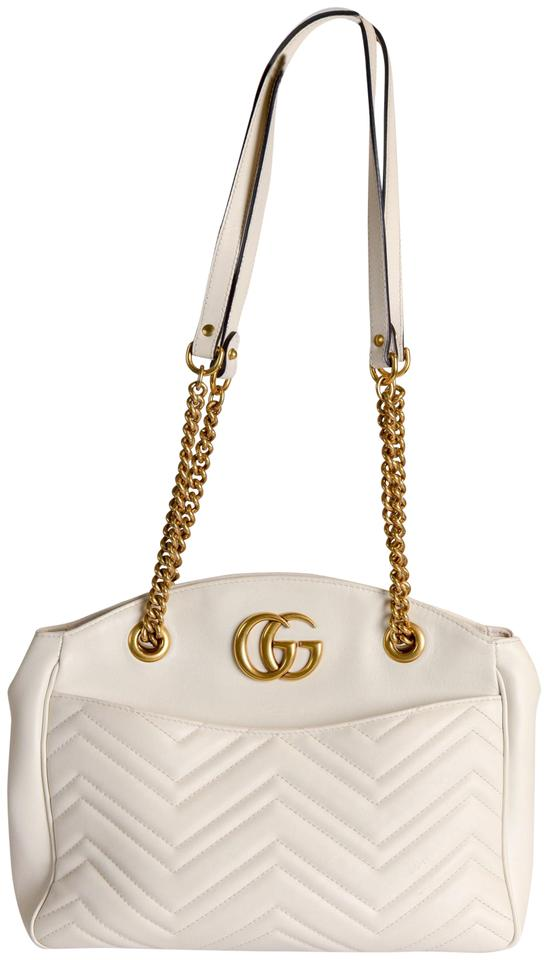 Gucci Marmont Gg 2.0 Medium Quilted White Leather Shoulder Bag - Tradesy 3ac6a4a14a9a0
