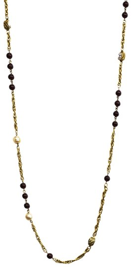 Chanel Chanel Vintage Pearl, Gripoix & Crystal Chain Necklace