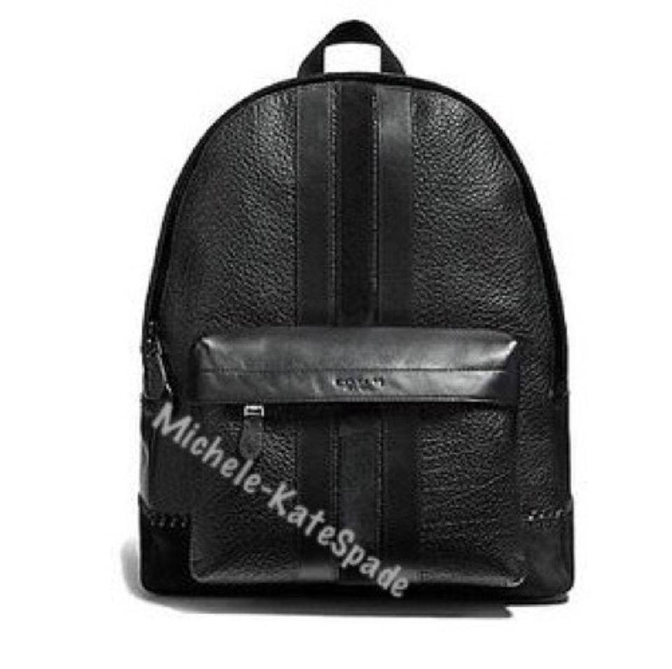 426d219f88a Coach Men s Charles with Baseball Stitch Black Calfskin Leather Backpack