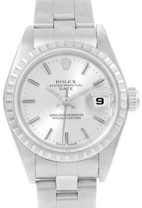 Rolex Rolex Date Silver Dial Oyster Bracelet Ladies Watch 79240 Box Papers