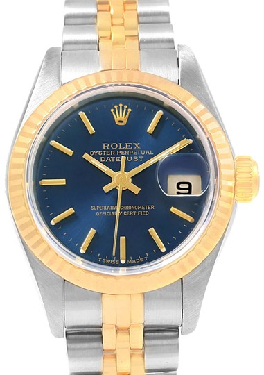 Rolex Rolex Datejust 26 Steel Yellow Gold Blue Dial Ladies Watch 79173