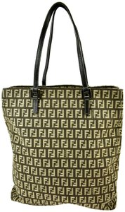 Fendi Leather Bucket Tote Shoulder Bag