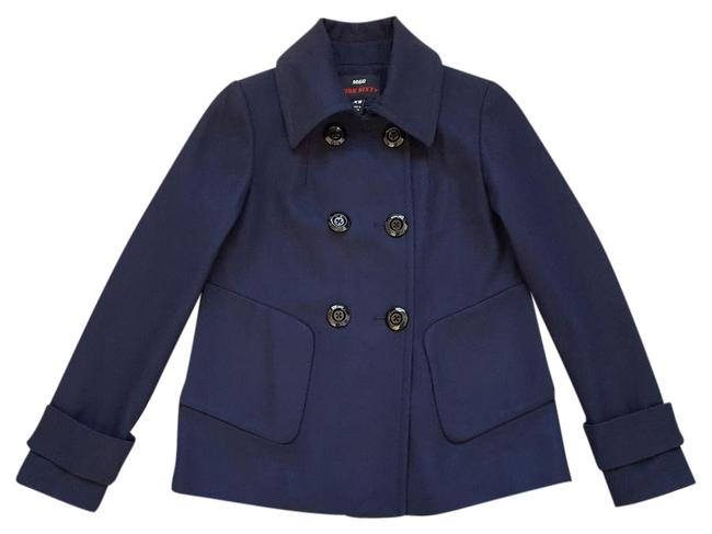 Item - Navy M60 Wool Blend Double Breasted Jacket Coat Size 0 (XS)