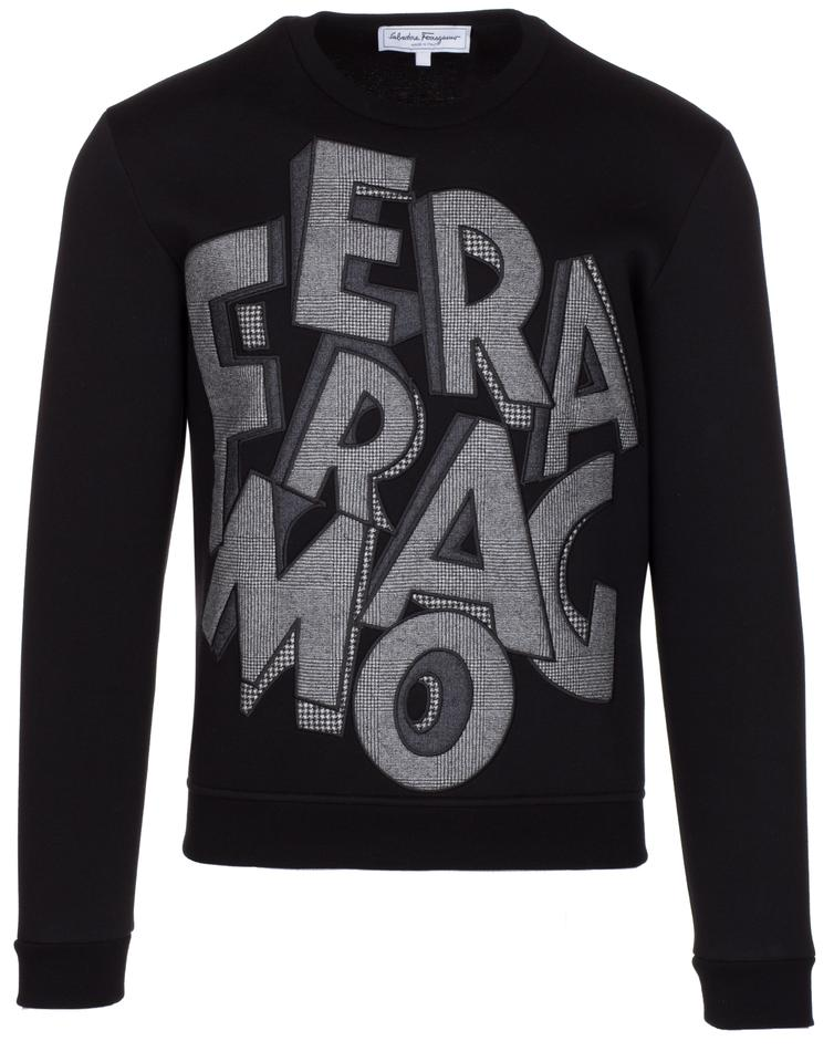 26b0d54dd213 Salvatore Ferragamo Men s Lettering Sweatshirt Black Sweater - Tradesy