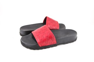Gucci * Signature Slide Sandal Red Shoes