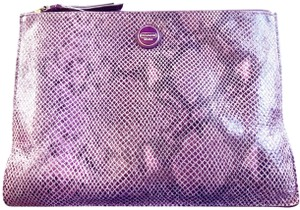 Coach Coach large purple pouch in genuine snakeskin leather