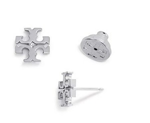 Tory Burch New Tory Burch Small Silver Circle Logo Studs