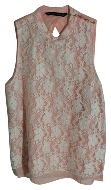 Preload https://item5.tradesy.com/images/zara-top-pink-and-white-2263599-0-0.jpg?width=400&height=650