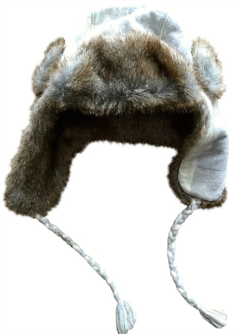 Juicy Couture Grey Faux Fur Buffalo Check Trapper Hat Juicy Couture Grey Faux Fur Buffalo Check Trapper Hat Image 1