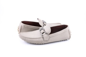 Louis Vuitton * Hockenheim Moccasin Greenish Grey Color Loafer Shoes