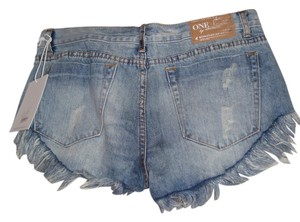 One Teaspoon Cut Off Shorts Rigid Denim