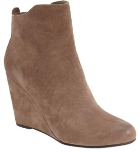 DV by Dolce Vita Suede Leather Ankle Wedge Tan Boots