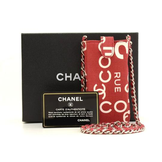 Chanel Chanel Red x White Canvas Mobile Phone Sunglasses Shoulder Case