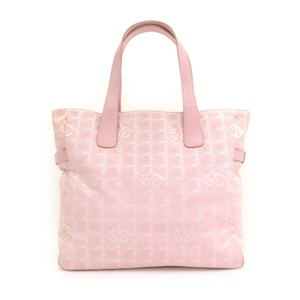 6fda912eb2f1 Added to Shopping Bag. Chanel Tote in Pink. Chanel Bag Travel Line Light  Jacquard Large Pink Nylon Tote