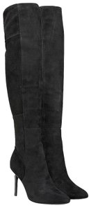 Cole Haan Suede Leather Over The Knee Black Boots
