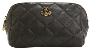 Moncler Moncler Black Leather Beauty Pouch Bag