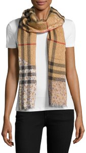 Burberry NEW Patchwork Floral & Check Wool & Silk Scarf