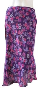 Express Knee Length Pull On Straight Skirt Purple