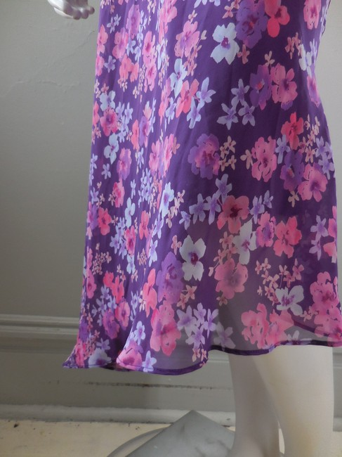 Express Pull On Straight Skirt Purple