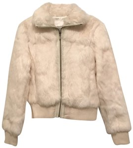 Wilsons Leather Rabbit Jacket Bomber Maxima Fur Coat