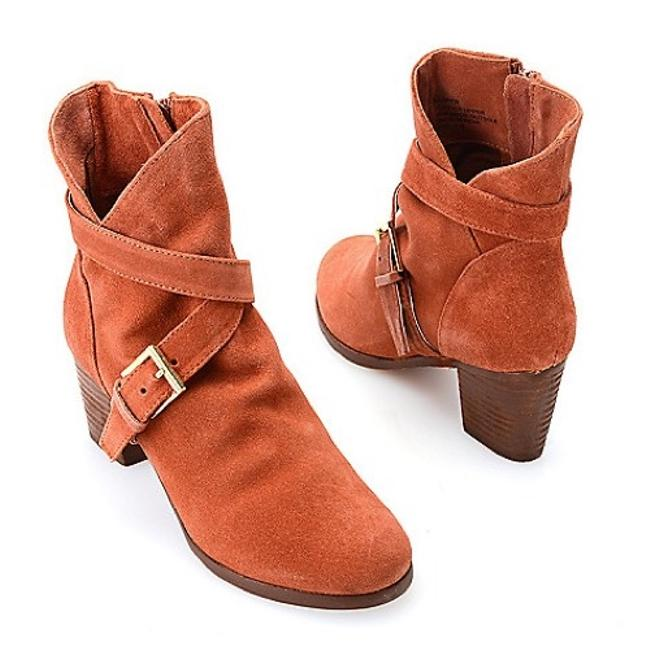 """Item - Rust """"Harper"""" Buckle Detail In Real Suede Slouch Boots/Booties Size US 8 Regular (M, B)"""