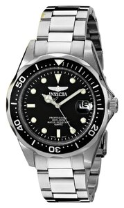 Invicta Invicta Pro Diver Men 40mm Stainless Steel Stainless Steel Black Dial
