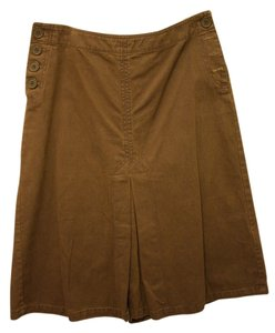 H&M Canvas Cotton Denim Jean Skirt Brown