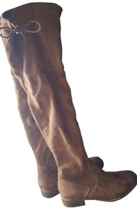 a.n.a. a new approach Suede Brown Over the Knee Boots Boots