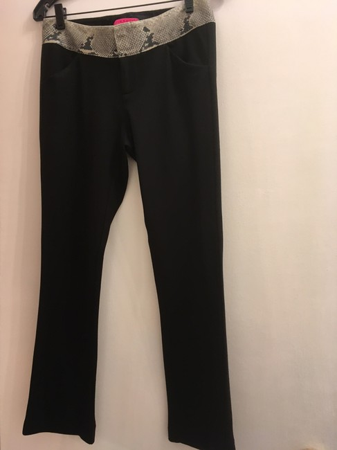 Alice + Olivia Straight Pants Black Image 0