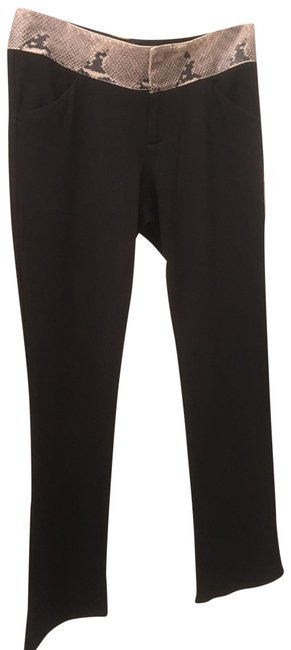 Alice + Olivia Straight Pants Black Image 3