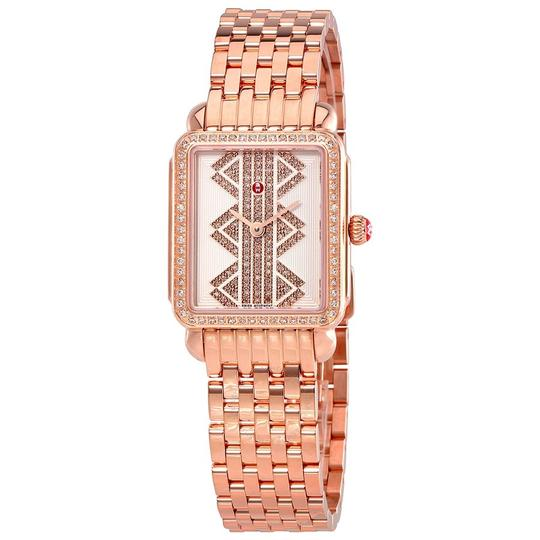 Michele Deco II MWW06I000021 Rose Gold Tone Stainless Steel Quartz Watch