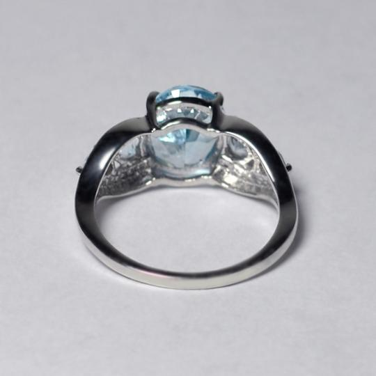 NY Collection Real Blue Topaz 5 Stone Promise Band Womens 925 Sterling Silver Image 3
