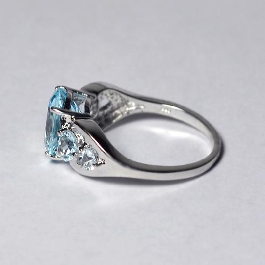 NY Collection Real Blue Topaz 5 Stone Promise Band Womens 925 Sterling Silver Image 4