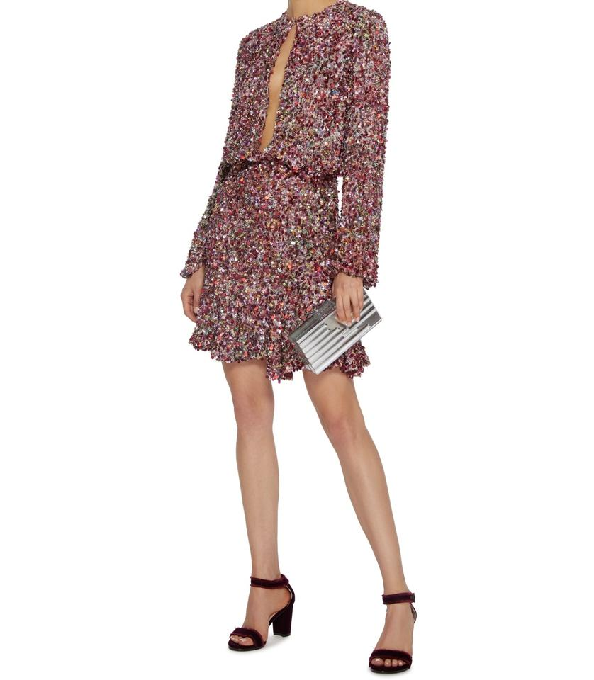 Alexis Pink Tamera Sequin Short Cocktail Dress Size 0 Xs