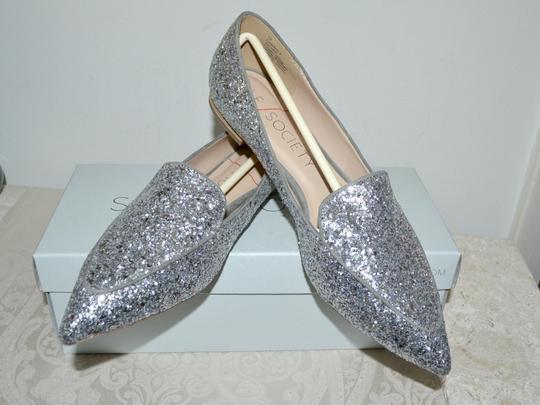 Sole Society Holiday Sparkle Ballet Silver Glitter Flats Image 1