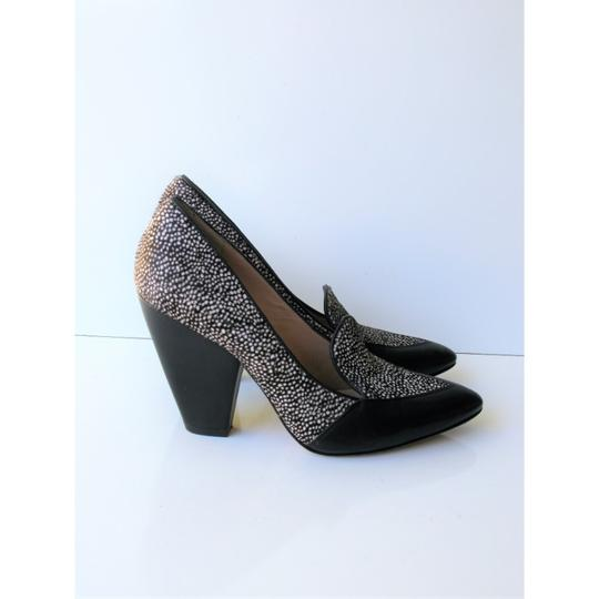 Belle by Sigerson Morrison Pony Hair Haircalf Leather Leopard Black & White Pumps Image 1