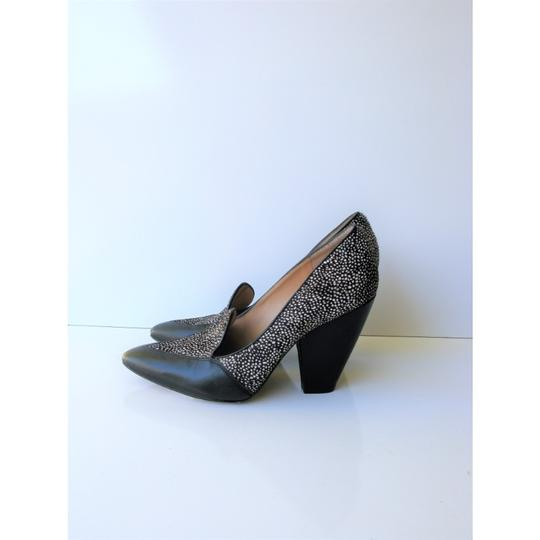 Belle by Sigerson Morrison Pony Hair Haircalf Leather Leopard Black & White Pumps Image 3