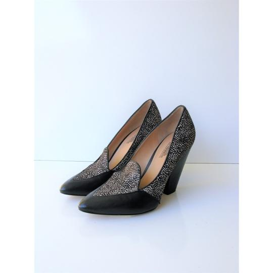Belle by Sigerson Morrison Pony Hair Haircalf Leather Leopard Black & White Pumps Image 4