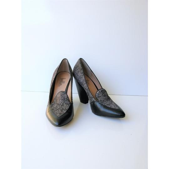 Belle by Sigerson Morrison Pony Hair Haircalf Leather Leopard Black & White Pumps Image 5
