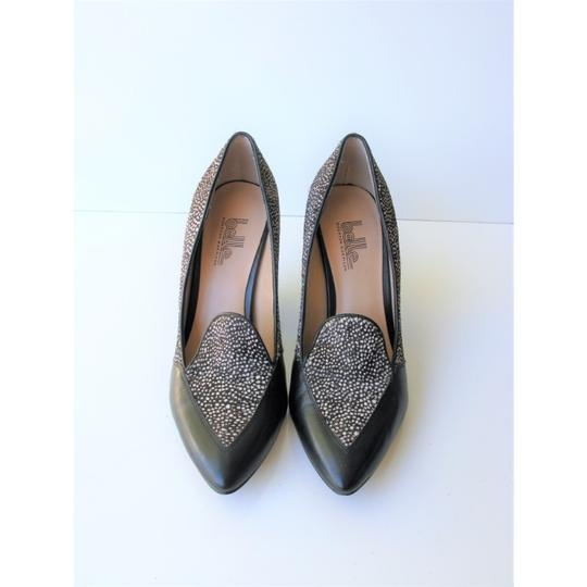 Belle by Sigerson Morrison Pony Hair Haircalf Leather Leopard Black & White Pumps Image 9