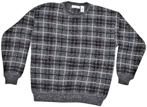 Geoffrey Beene Wool Plaid Sweater