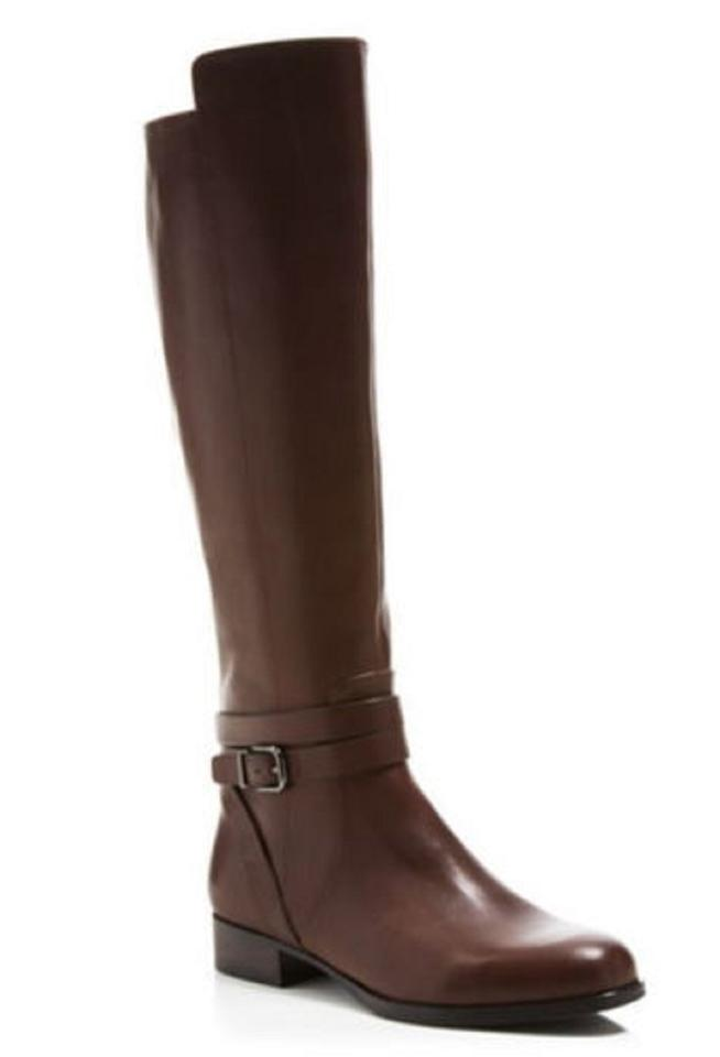 Via Spiga Brown Strap Prish Leather Tall Ankle Strap Brown Riding Boots/Booties c9b35b