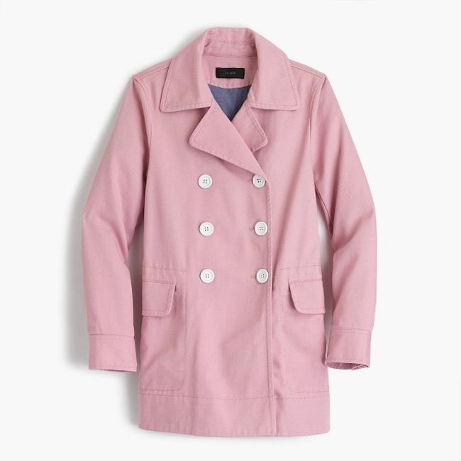 Item - Mauve Pink Peacoat In Heavyweight Cotton Twill Jacket Size Petite 4 (S)