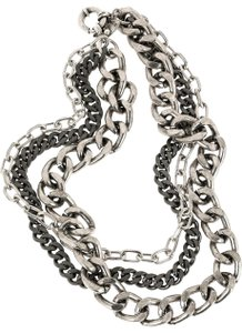 Giles & Brother Giles & Brother Triple Metal Chain Necklace